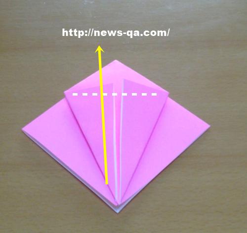 すべての折り紙 長方形 折り紙 鶴 : 折り紙のバラの折り方!子供で ...