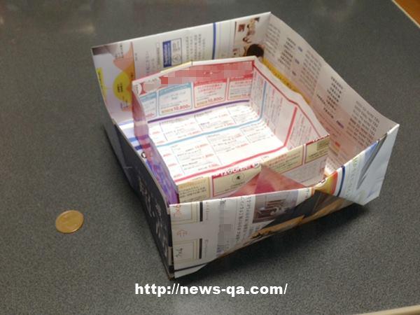 ハート 折り紙 チラシ 折り紙 ゴミ箱 : news-qa.com